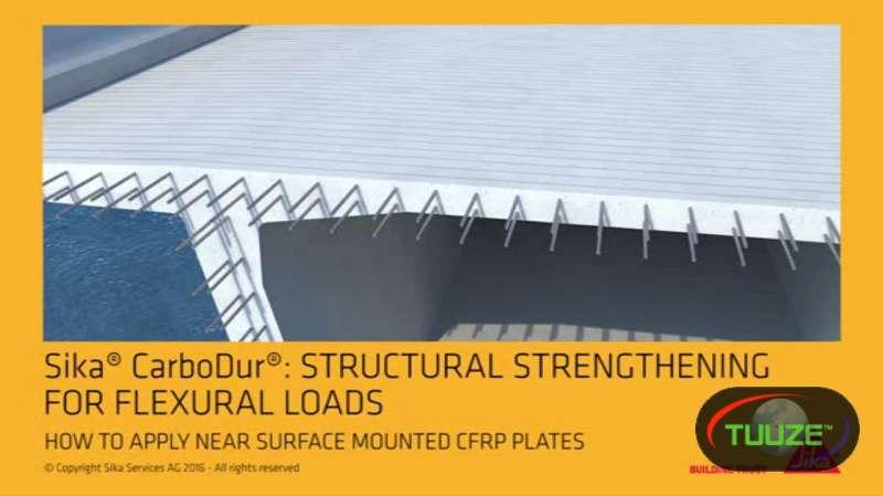 External structural strengthening carbon fibre rod