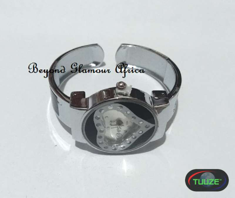 Ladies Silver Plated Heart Watch