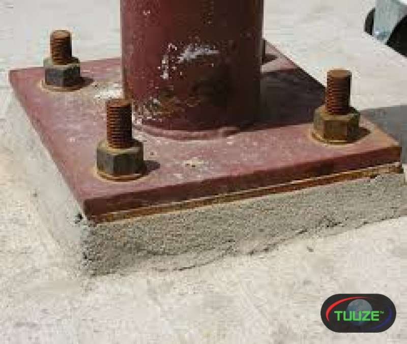 Machine base plate anchoring and grouting services