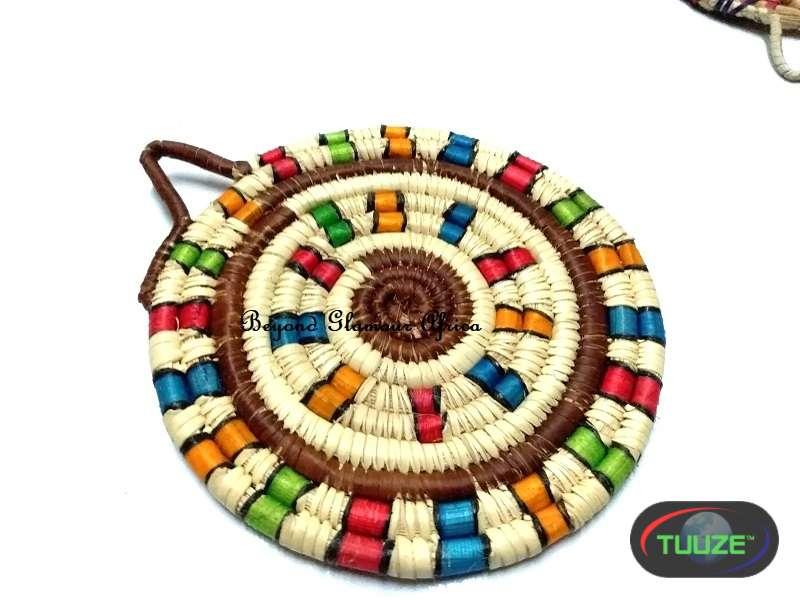 Multi colored Handwoven coasters