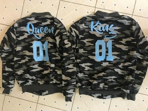 Queen and King Combat Bomber hoody